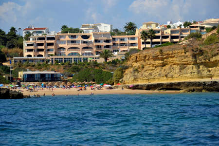 Beach Aveiros, Albufeira, Algarve, Portugal, summer sea Editorial