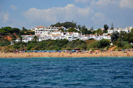 vilamoura: Beach Alemes, Albufeira, Algarve, Portugal, summer sea