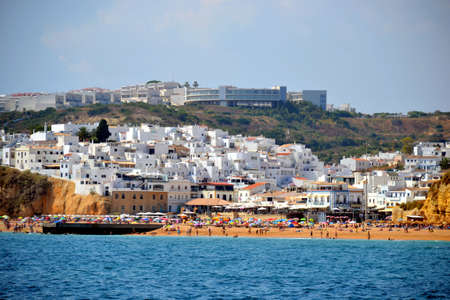 Beach Inatel, Albufeira, Algarve, Portugal, summer sea