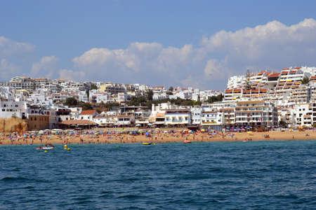 Beach Pescadores, Albufeira, Algarve, Portugal, summer sea