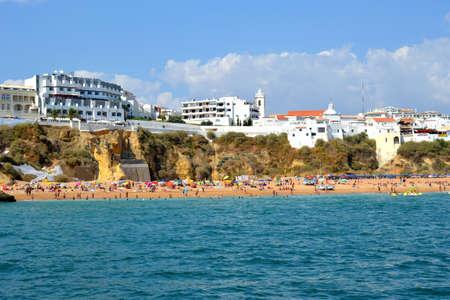 Beach Peneco, Albufeira, Algarve, Portugal, summer sea