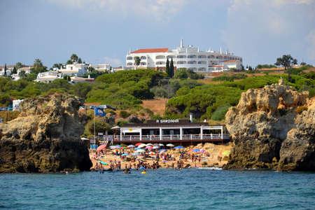 Beach Arrifes, Albufeira, Algarve, Portugal, summer sea