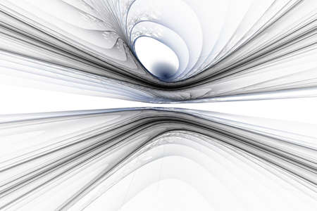 Horizontal abstract fractal on the white background