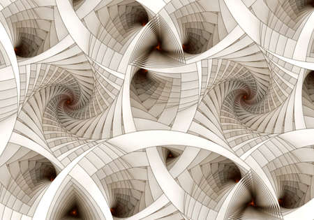 fractal: Abstract digital fractal spiral art on the white background