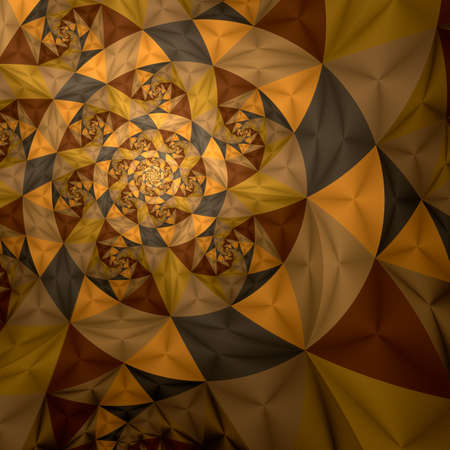 disorderly: Abstract spiral art backdrop  on black background. Stock Photo