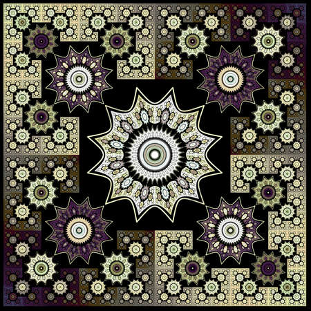 Abstract flower fractal Geometry Art Background Pattern  photo