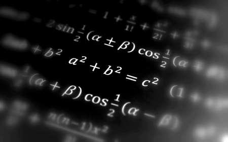 Pythagoras equation, Math geometry with formulas, math, number equation photo
