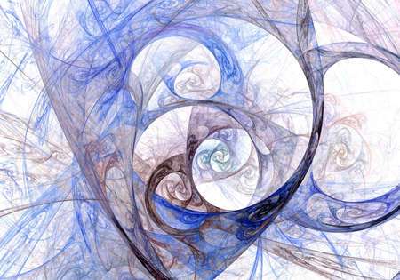 gossamer: Abstract fractal colorfull on the white background Stock Photo