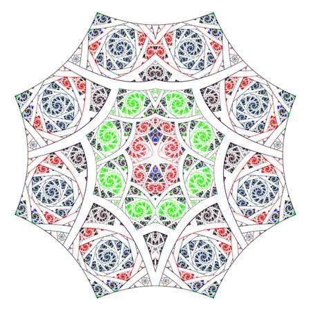 elohim: Abstract flower fractal Geometry Art Background Pattern