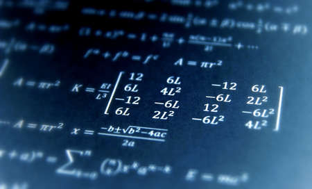 quickness: Formula, advanced math equation. Stock Photo