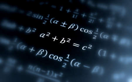 teorema: Ecuaci�n de Pit�goras Foto de archivo