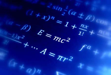 Einstein formule van de relativiteits theorie  Stockfoto