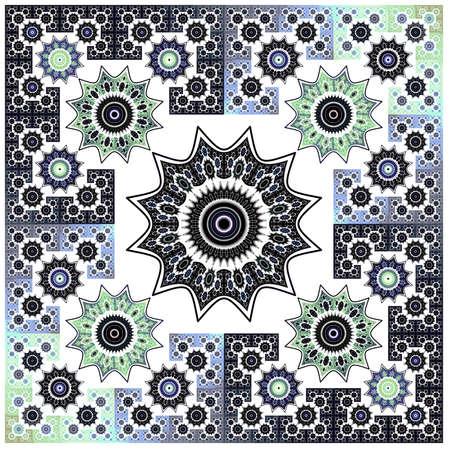 抽象的な花フラクタル幾何学アートの背景パターン 写真素材