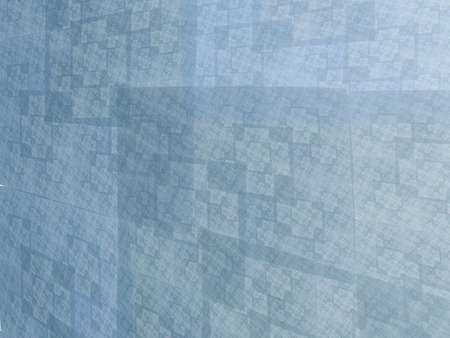 recursive: Abstract blue square fractal perspective mosaic style background Stock Photo