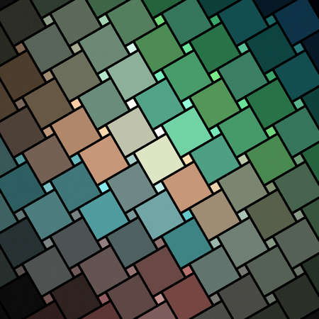 Abstract colorful square fractal  mosaic style background