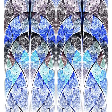 logarithm: Symmetrical blue fractal flower, digital logarithm for creative graphic