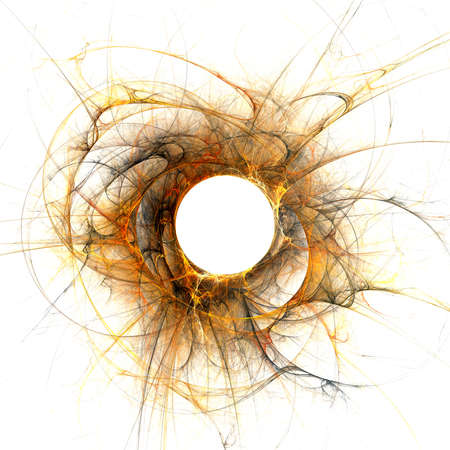 solar eclipse: The eye of God  Solar Eclipse on white background