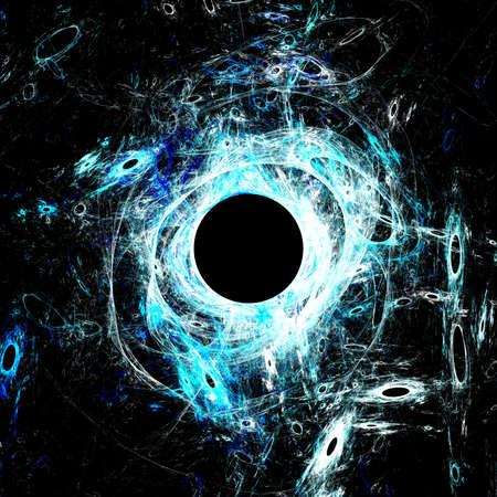 solar eclipse: The eye of God  Solar Eclipse on black background