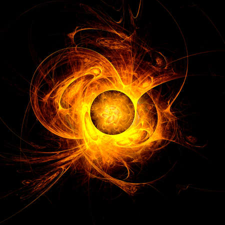 sun flare: The eye of God  Solar Eclipse on black background