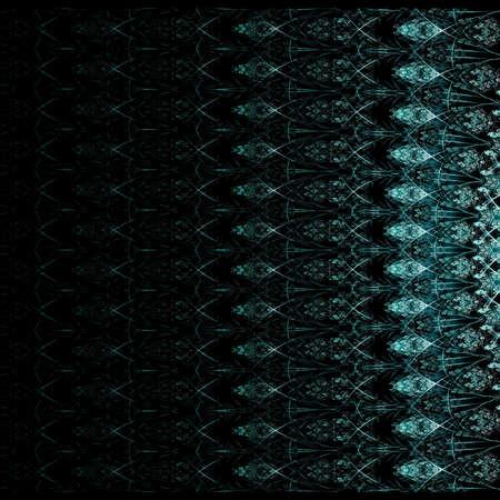 logarithm: Symmetrical black fractal flower, digital logarithm for creative graphic
