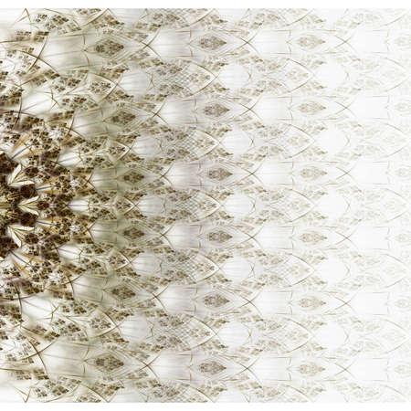 logarithm: Symmetrical green fractal flower, digital logarithm for creative graphic