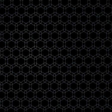 Honeycomb Fractal Gold Hex Pixel Grid Illustration Stock