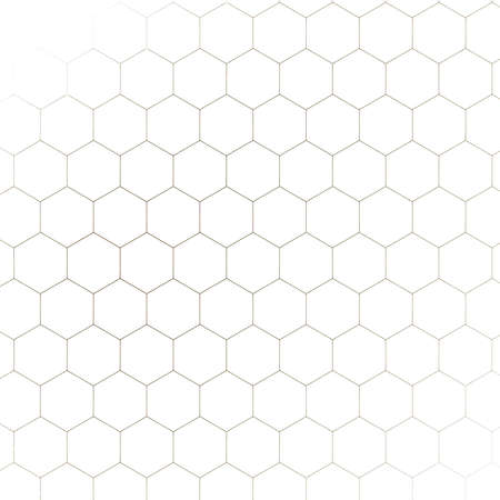 Honeycomb fractal gold hex pixel grid illustration
