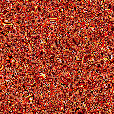 raytrace: Abstract fractal red marbleized psychedelic plasma Stock Photo