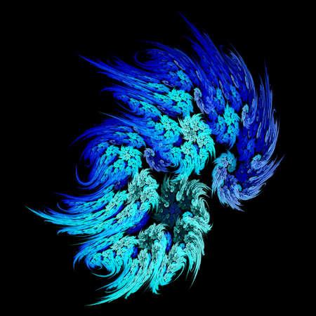 Blue Flames a fractal on black background