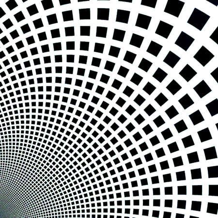 抽象的なフラクタル正方形ピクセル モザイク図
