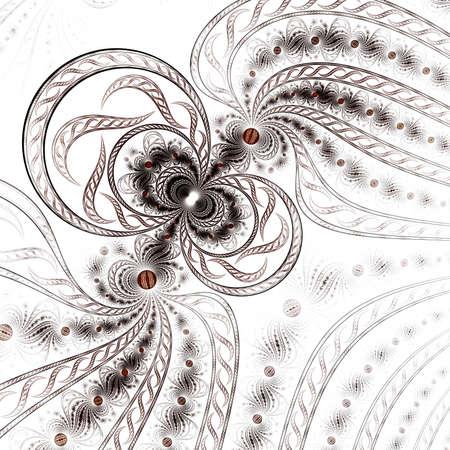 Colorful fractal flower pattern, digital artwork for creative