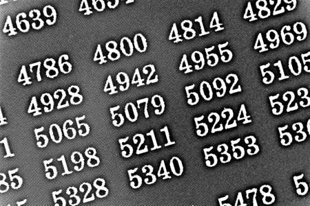 Black background HDR with many numbers in perspective