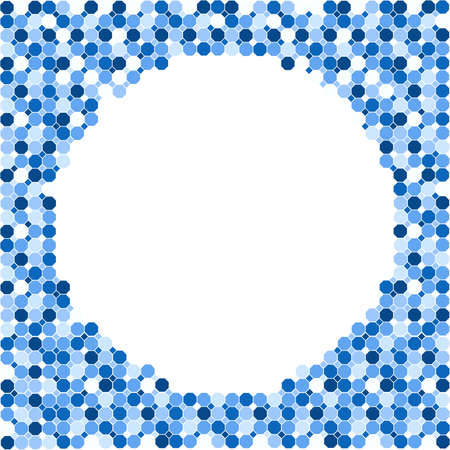 Blue modern geometrical octagon square abstract background. Innovation concept design.