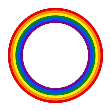Rainbow gay couple pride flag circle, Symbol of sexual minorities, gays and lesbians