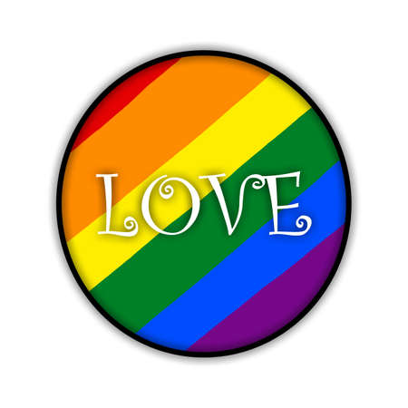 Rainbow gay pride flag circle, Symbol of sexual minorities, gays and lesbians, LOVE Banque d'images