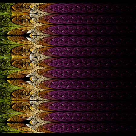 Beautiful fractal Symmetrical gradient, flower or butterfly, digital artwork for creative graphic design. Computer generated graphics.