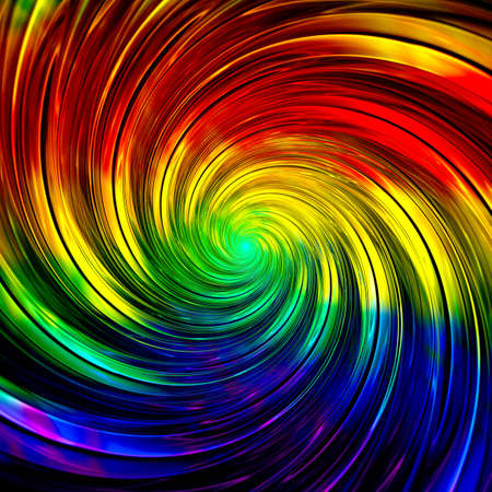 Abstract Symmetrical red fractal tornado spiral galaxy, digital artwork for creative graphic design. Computer generated graphics. Imagens