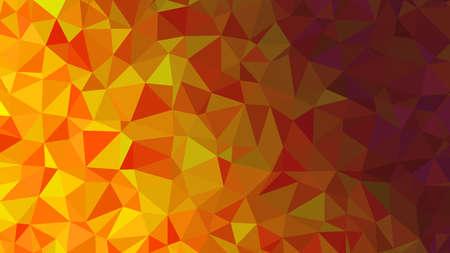 Oranje driehoekige laag poly, mozaïek patroon achtergrond, vector illustratie afbeelding, creatief, origami stijl met verloop Vector Illustratie