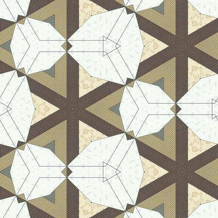 Abstract colorful geometric seamless pattern symmetric kaleidoscope fashion, design