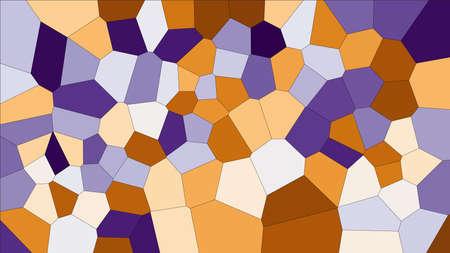 Voronoi coloré de vitrail, résumé de vecteur. Motif de fond de cellules irrégulières.