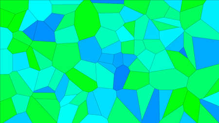 Stained glass colorful voronoi, vector abstract. Irregular cells background pattern. Vektorové ilustrace