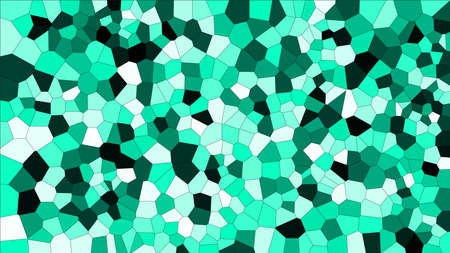 Stained glass colorful voronoi, vector abstract. Irregular cells background pattern. 2D Geometric shapes grid - Vetorial 8K HD