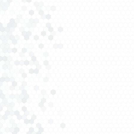 Körniges Muster bestehend aus bunten Sechsecken. Wabenhintergrund. Abstrakte isometrische Geometrie. Seitenverhältnis 1:1