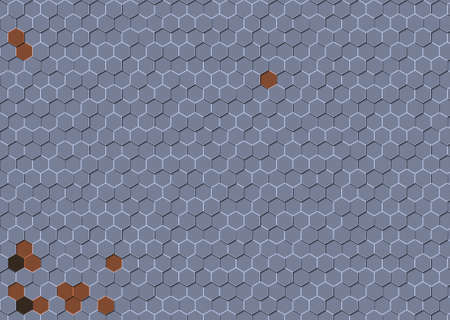 Abstract colorful honeycomb honey seamless pattern hexagon mosaic background Stok Fotoğraf