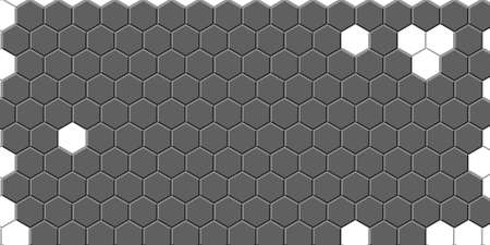 Honeycomb Light Grey, Silver, grid seamless background or Hexagonal cell texture