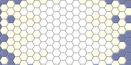 Honeycomb gold grid seamless background or Hexagonal cell texture