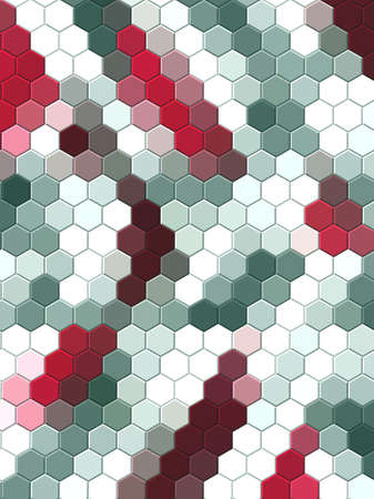 Honeycomb Dark red, grid seamless background or Hexagonal cell texture 写真素材