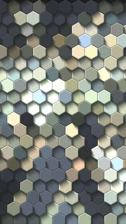 Honeycomb Dark blue, grid seamless background or Hexagonal cell texture 写真素材