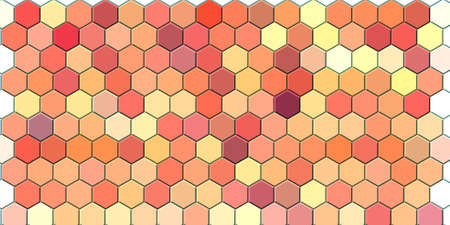 Honeycomb Dark red, grid seamless background or Hexagonal cell texture Banque d'images