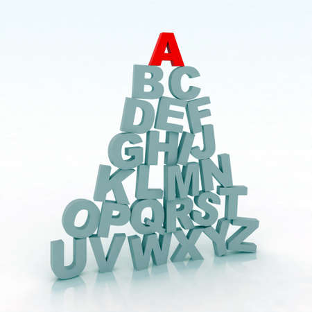 3d illustration alphabet illustration